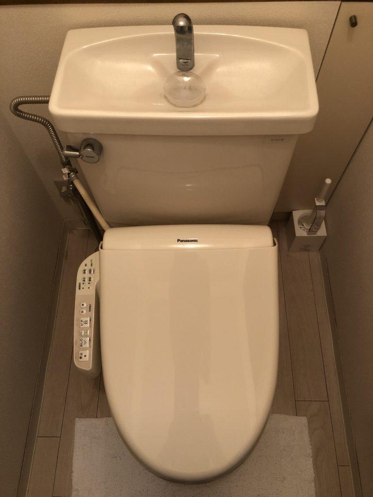 静岡市でトイレの水漏れ修理を行いました。