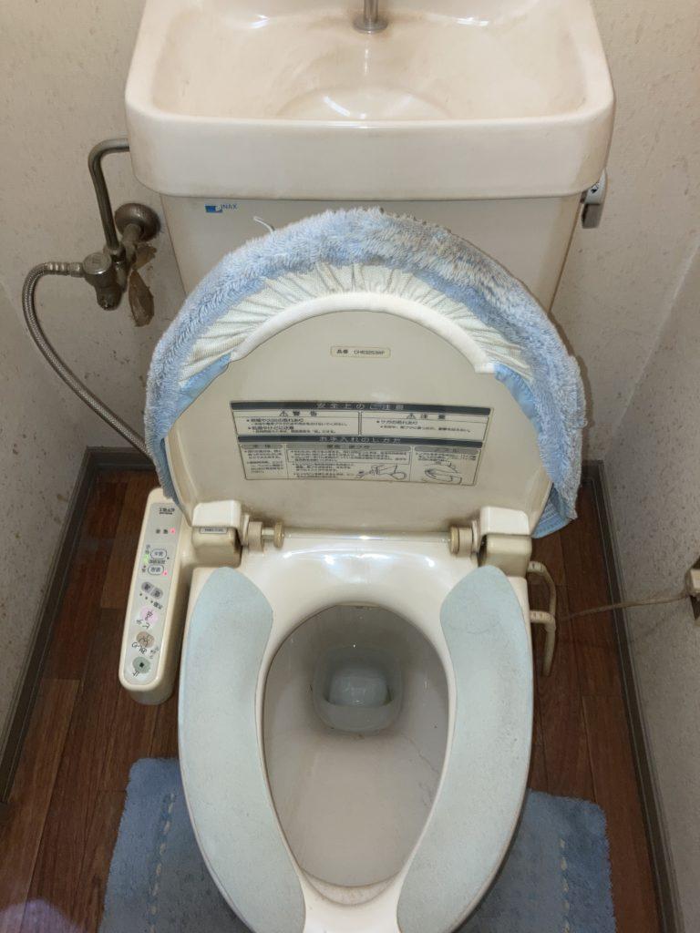 浜松市でトイレの配管水漏れ修理を行いました。