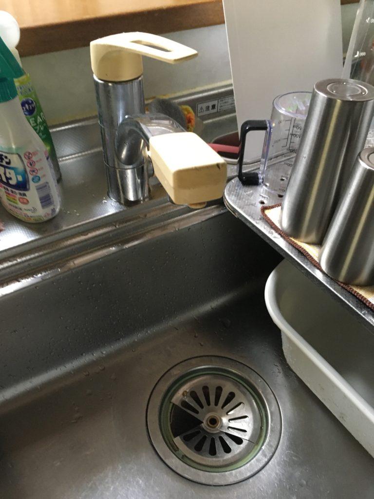 熱海市でキッチンの蛇口水漏れ修理の施工事例