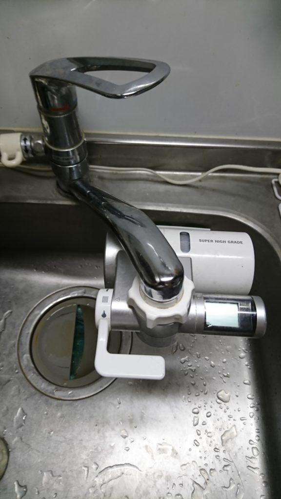 浜松市でキッチンの蛇口水漏れトラブルを解消しました。