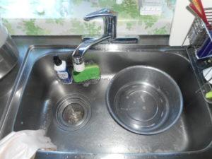 台所蛇口の水漏れ